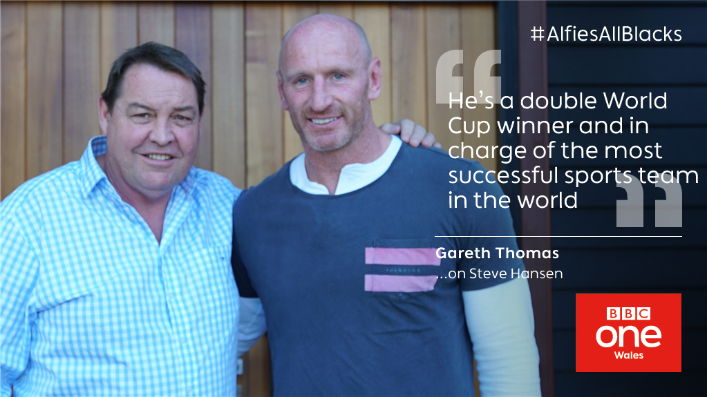 .@gareththomas14 meets the most important man in New Zealand rugby  🏉 #AlfiesAllBlacks: Tomorrow 8.30pm 📺 @BBCOne Wales