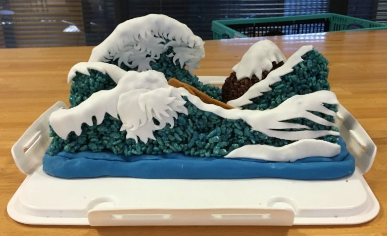'Great Wave off Kanagawa' transformed into cake for the Great Geo-bakeoff (& check out edible Yellowstone at link). https://t.co/REwMRROsji