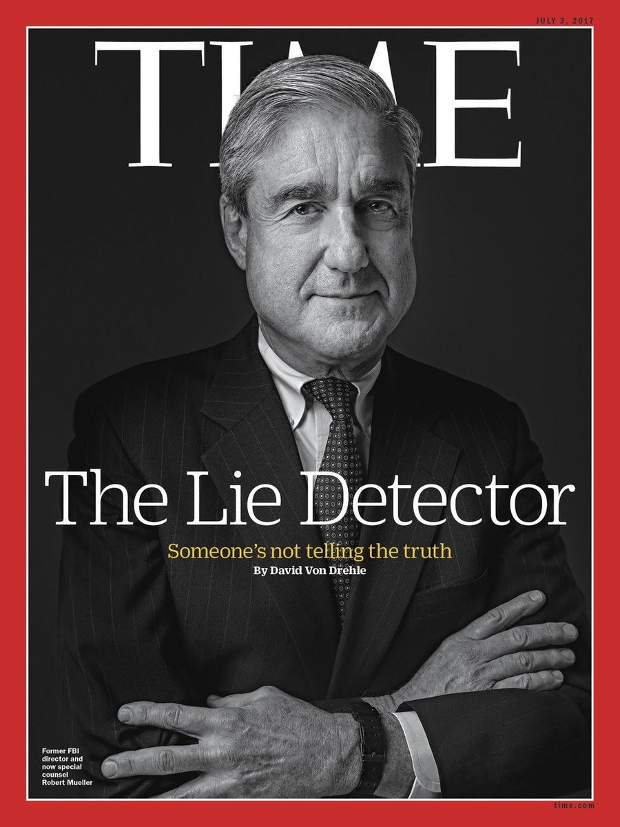 Special Counsel Mueller is on the cover of Time Magazine.