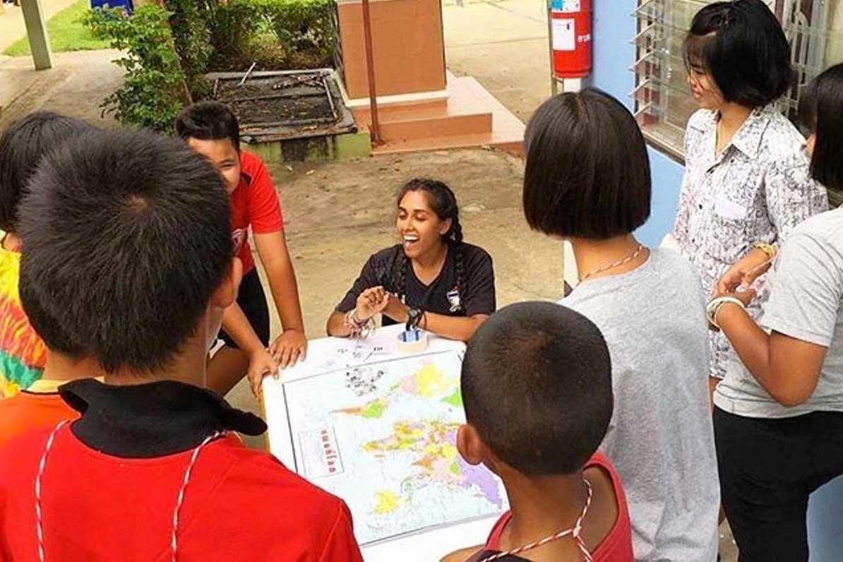 'Educating these students on the diversity in America.' - Anika, Peace Corps #Thailand Volunteer  https://t.co/GkzTLWCBCt