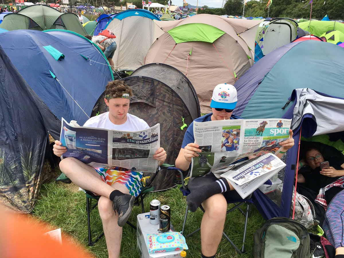 @BarneyWilkinson You&#39;re here with us in spirit Mileykins!  #theguardian #Glastonbury2017<br>http://pic.twitter.com/lOOg9REshS