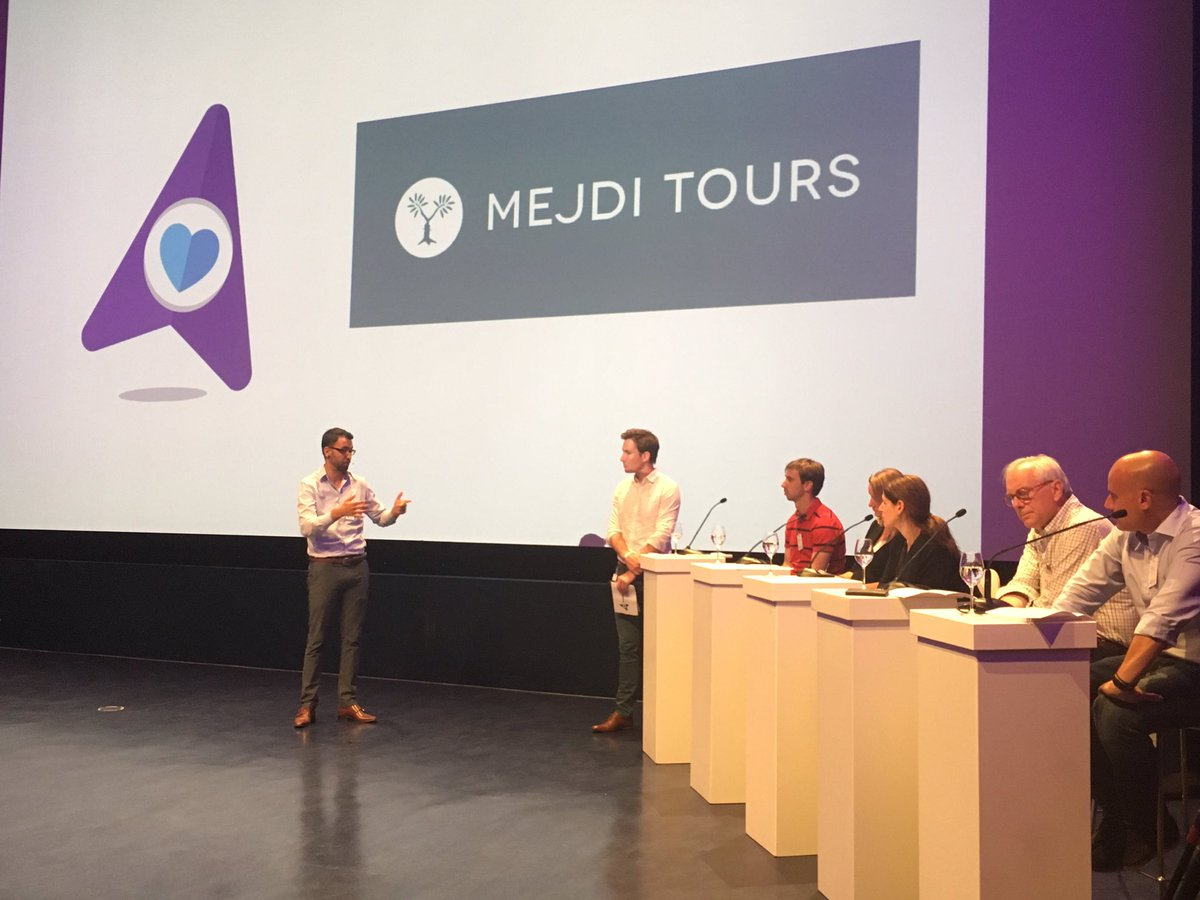 Aziz of @MEJDI_Tours explains to the #BookingBooster jury that no destination is homogenous and can have dual narrative tours anywhere <br>http://pic.twitter.com/6jwKhH5ets