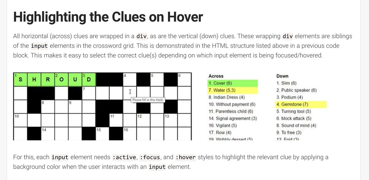 Css Tricks On Twitter How I Built A Pure Css Crossword Puzzle