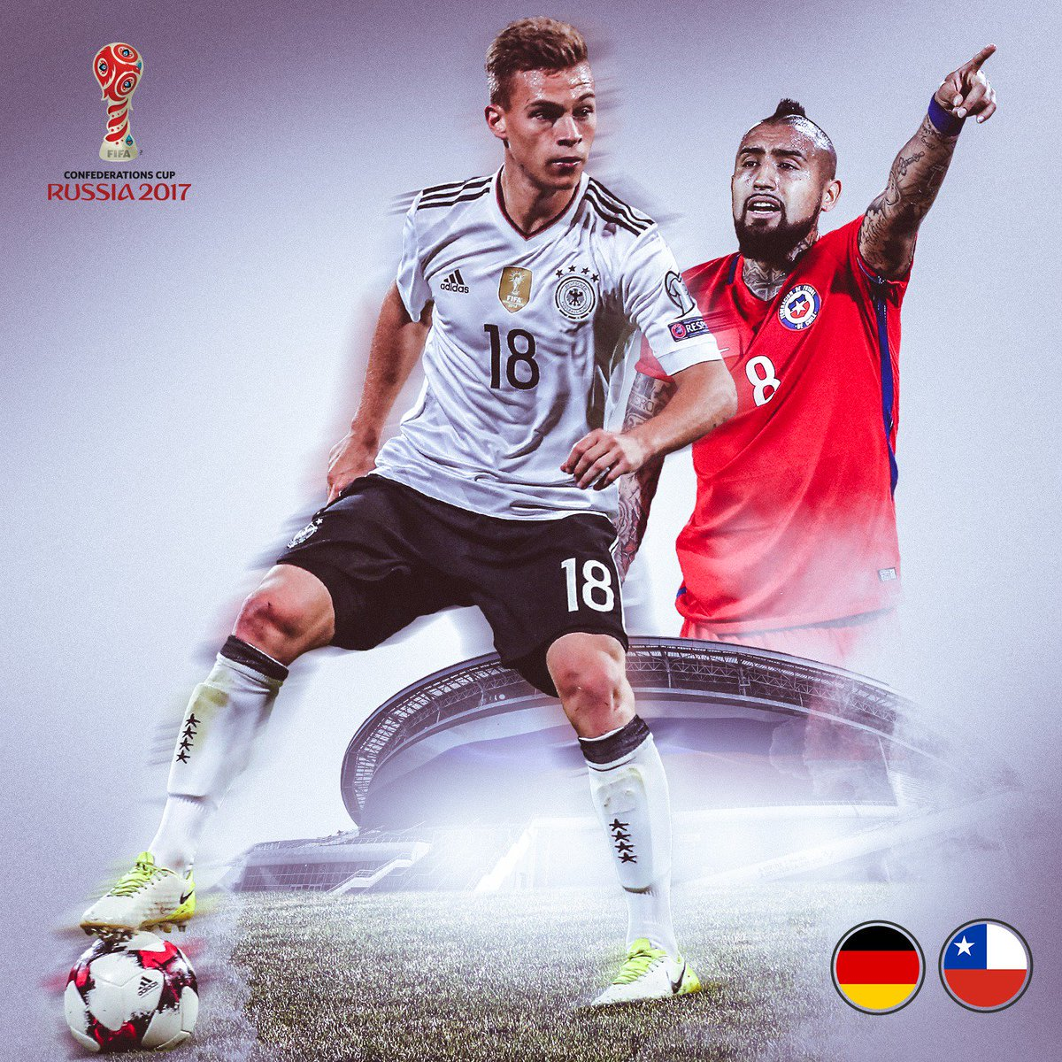 The Kid 🇩🇪 vs. The King 🇨🇱 ! Watch #KIMMICH and @kingarturo23 square o...