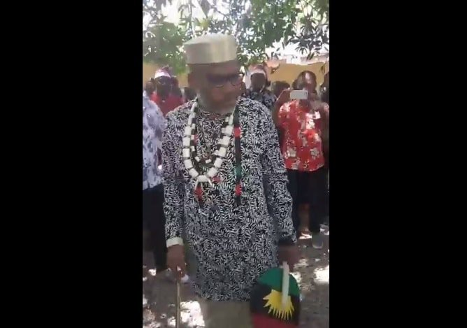 """Mazi Nnamdi Kanu says """"Only the corrupt afraid of Biafra, Nothing can stop us, I will destroy the Zoo""""."""