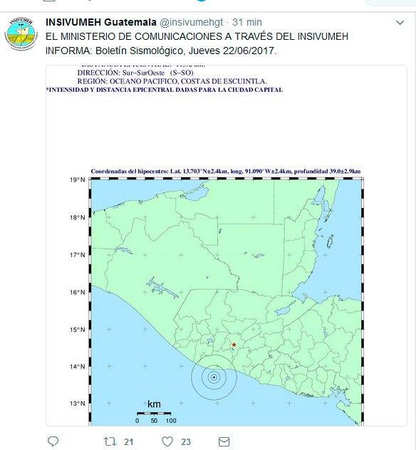 Guatemala | Un sismo de 6,7 en la escala de Richter sacudió las costas del país https://t.co/g31Cyplhzv