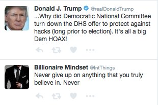 These two unrelated tweets appear in order in my twitter timeline. Kinda perfect: