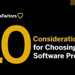 Our new infographic outlines 10 important considerations for selecting an #HR software provider. Check it out: https://t.co/rZu9pmXFaw