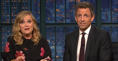 Watch Amy Poehler & Seth Meyers revive 'Really!?!' to roast Pro-Trump protesters https://t.co/qaSdV8EYkb