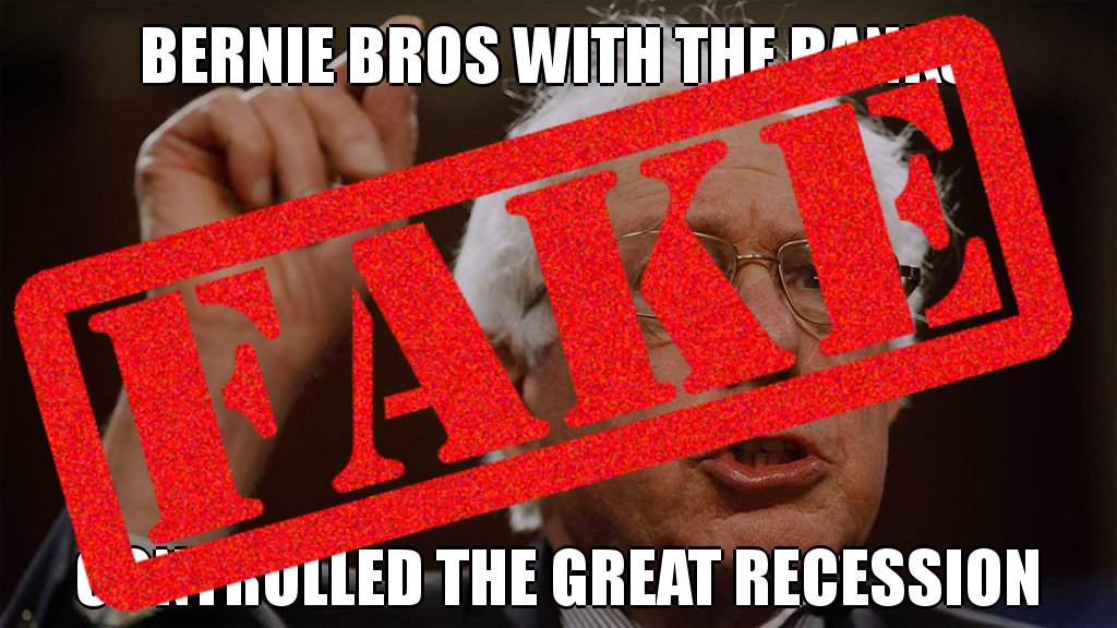 Specious! Bernie Bros with the banks did NOT control the Great Recession #lies @factcheckdotorg #fake #posttruth #correction<br>http://pic.twitter.com/WjsAcduTEP
