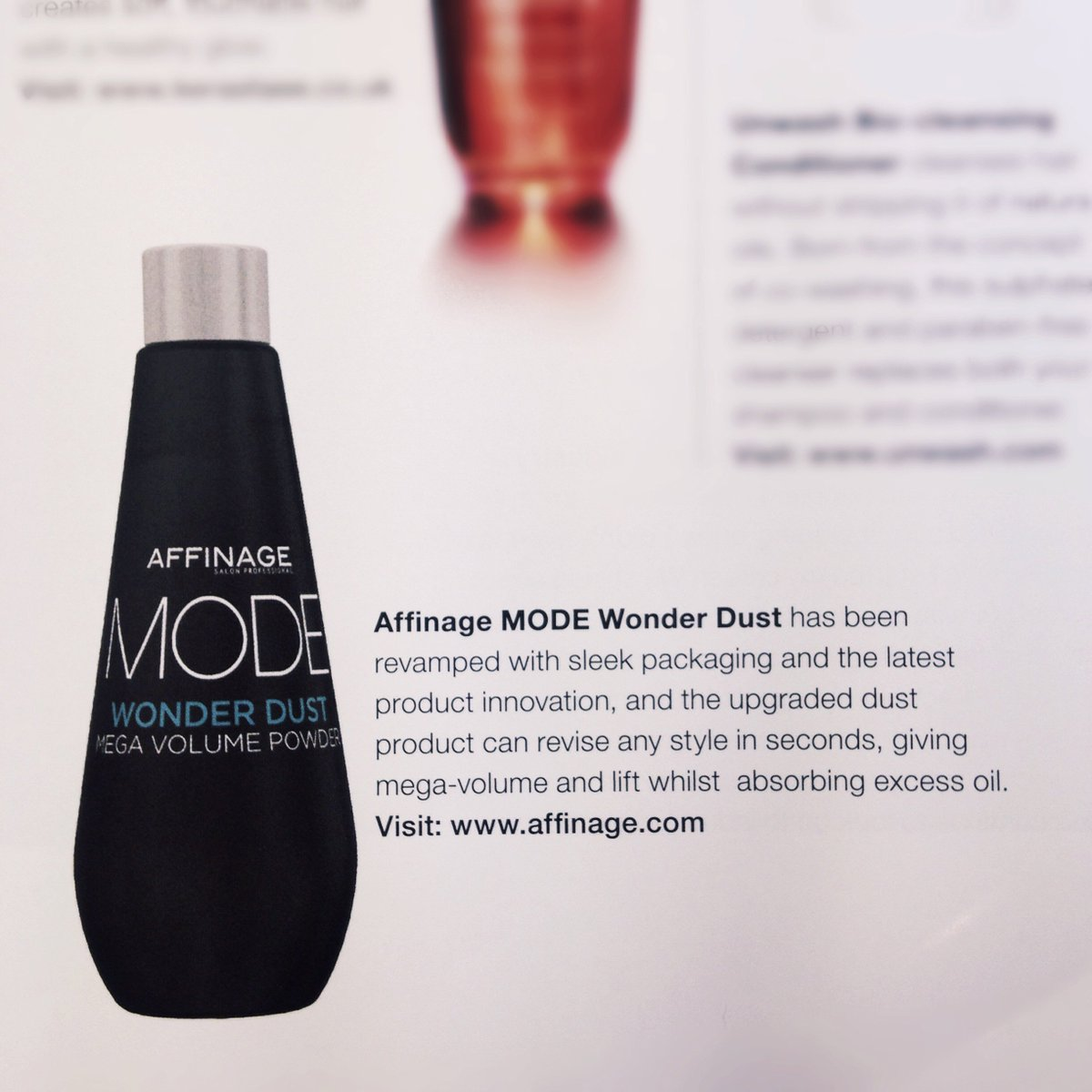 Spotted #Affinage #MODE #WonderDust in the @haircouncil mag Summer issue!  #AffinageStyling #StylingProducts #MODEStyling<br>http://pic.twitter.com/qxYUPnqyxX