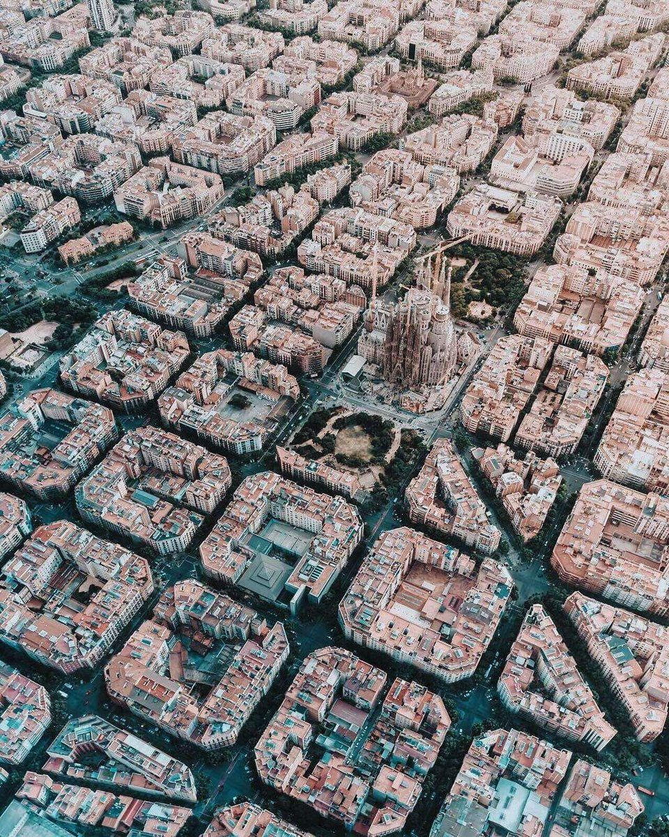 This is what Barcelona looks like from the sky.