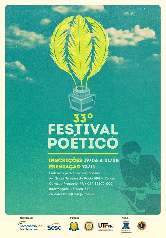 Resultado de imagem para 33º festival poético cornélio procópio