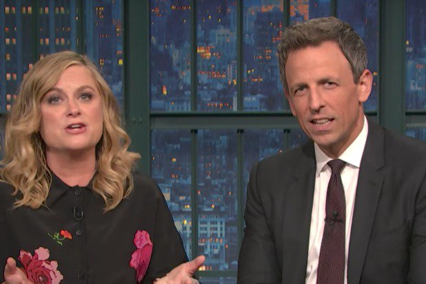 Amy Poehler, Seth Meyers Bring Back 'Weekend Update' Skit to Slam Pro-Trump Protesters (Vid) https://t.co/zGRDmy4fNl