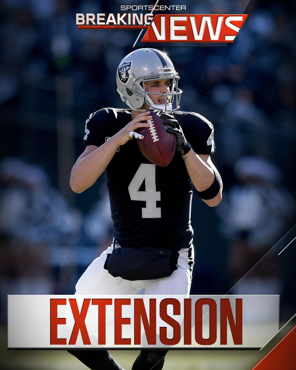 Breaking: Derek Carr has tweeted that his expected $25 million/year ex...