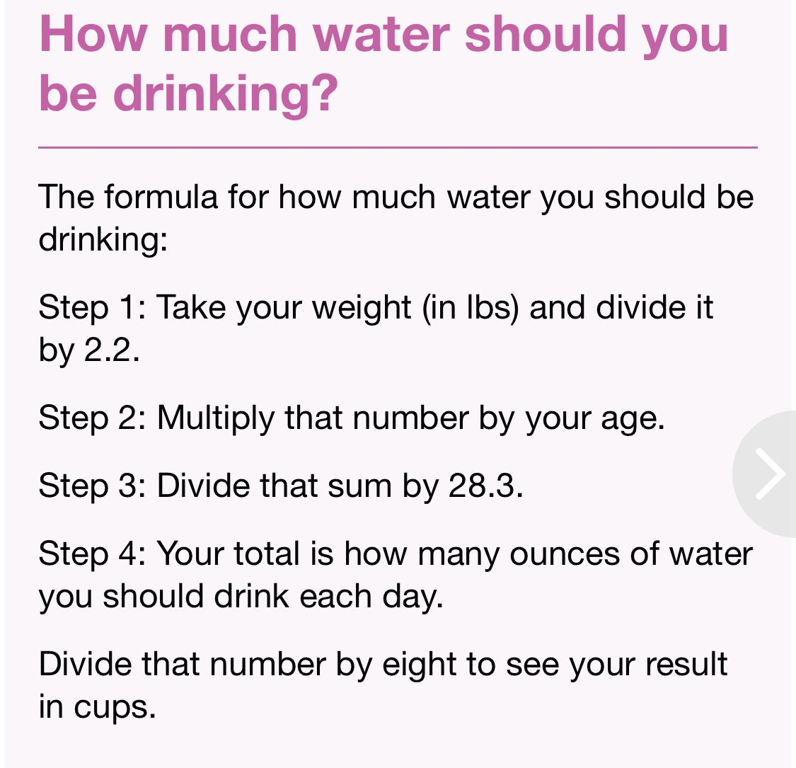 How Much Water Should I Drink A Day Calculator >> Jenny Hutt On Twitter Here S How To Calculate How Much