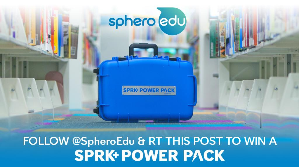 Awesome by the dozen. Follow us, RT this post and a brand new SPRK+ Power Pack could be yours. #BeyondCode  Rules: https://t.co/TrLUfIhW7S