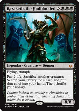 Check out GM's official preview for #MTGHOU! Razaketh, the Foulblooded! https://t.co/ewe6DFRhqb https://t.co/BTIFkY5F2l