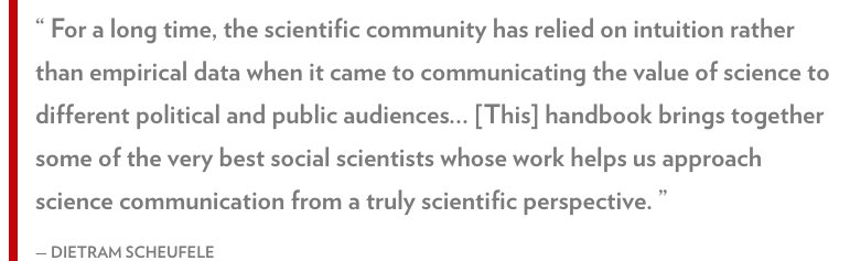 A new book edited by @scheufele, @cult_cognition &amp; Kathleen Hall Jamieson sheds light on the science of #scicomm  http:// lsc.wisc.edu/2017/06/16/lsc s-dietram-scheufele-co-edits-handbook-on-the-science-of-science-communication/ &nbsp; … <br>http://pic.twitter.com/aFPb3ubIDP