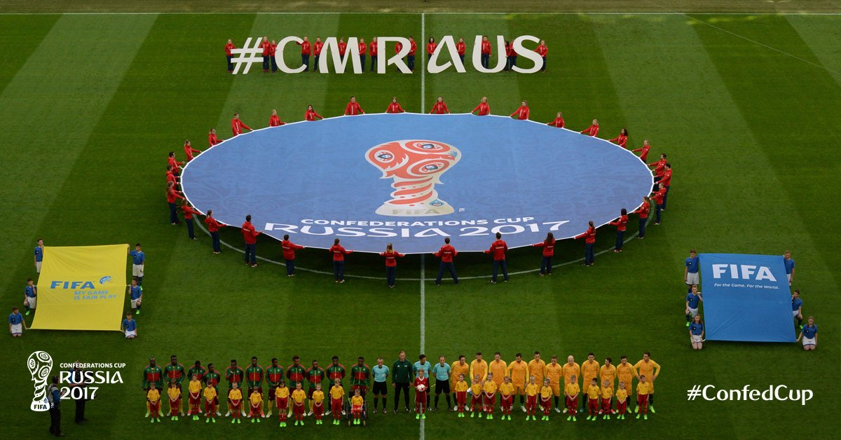 #CMRAUS The hashtag of today's first #ConfedCup game is... 👇 https://t...