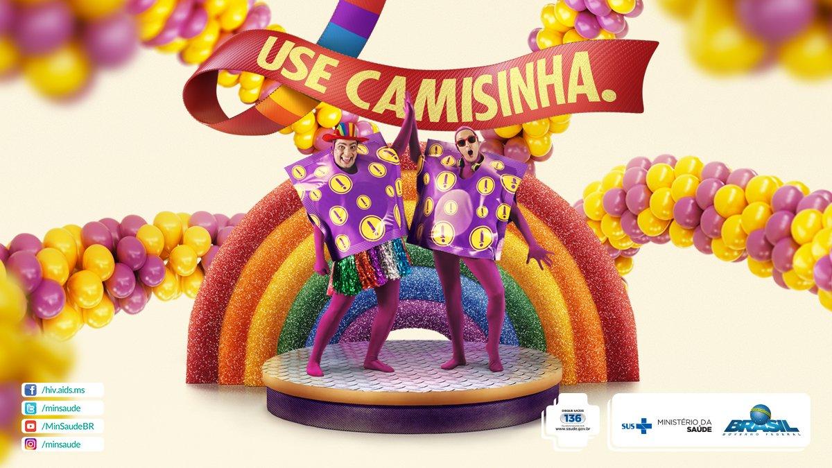 Na Parada do Orgulho LGBT, seja bofe ou rainha, use sempre camisinha. #TemCamisinhaNaFesta