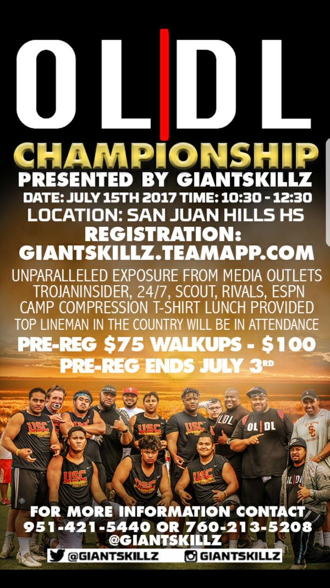 The CHAMPIONSHIPRegister Now at  http:// giantskillz.teamapp.com  &nbsp;   #OL|DL #July15th #TeamGSZ<br>http://pic.twitter.com/7GvMRgUrqM