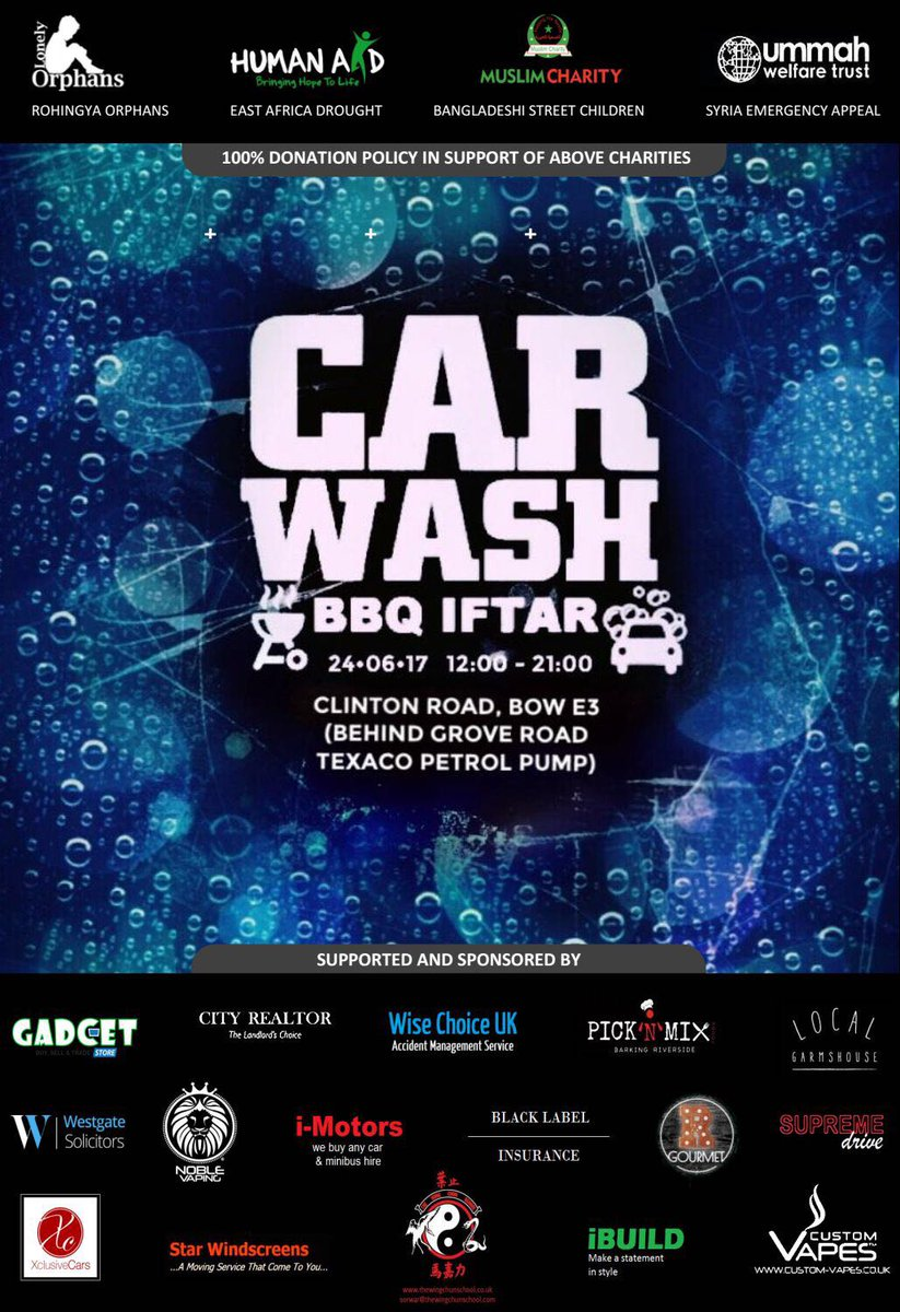 Charity car wash and BBQ in Bow. Great #unity  amongst the charities,...