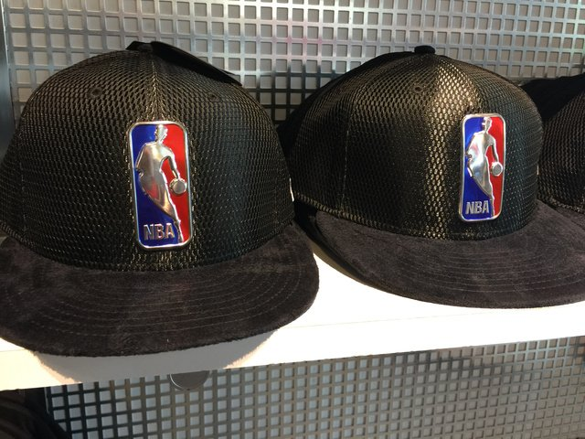 Suede brim, liquid NBA logo draft hats ($40)