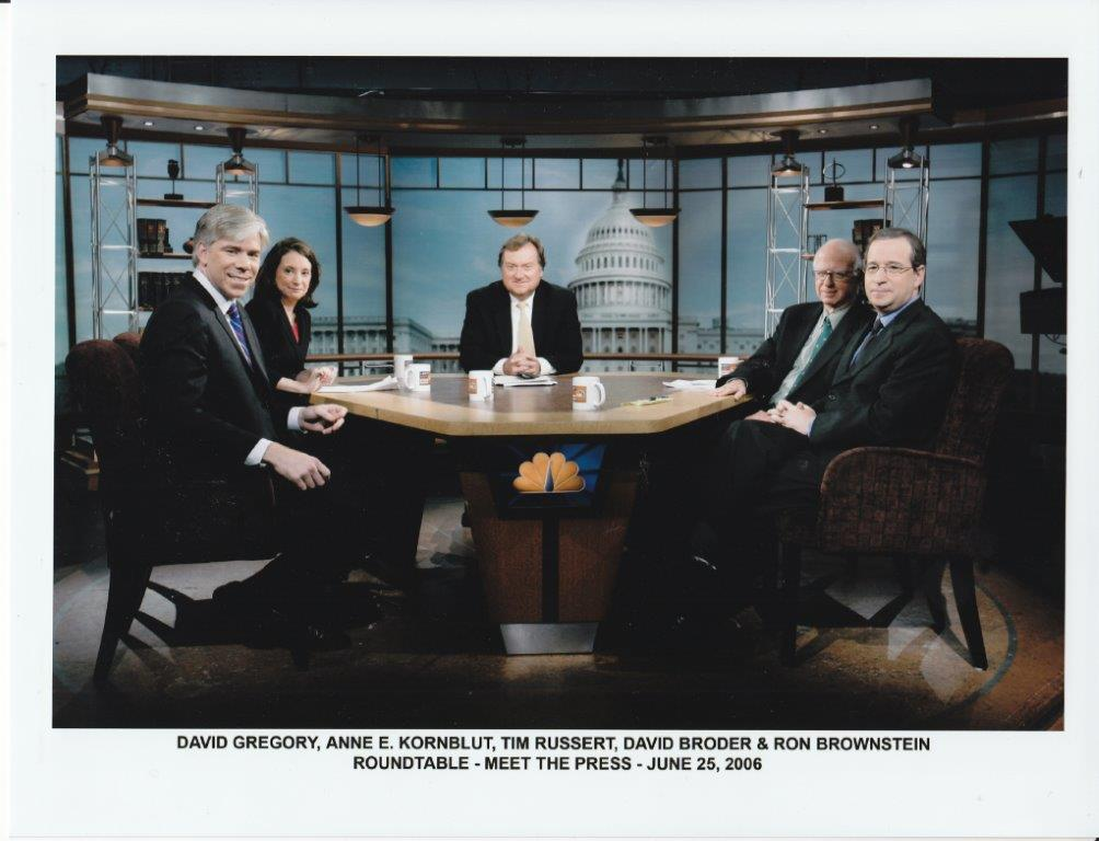 #OnThisDay in 2006: @davidgregory, @annekornblut, @RonBrownstein, and David Broder at the #MTP roundtable. #MTP70