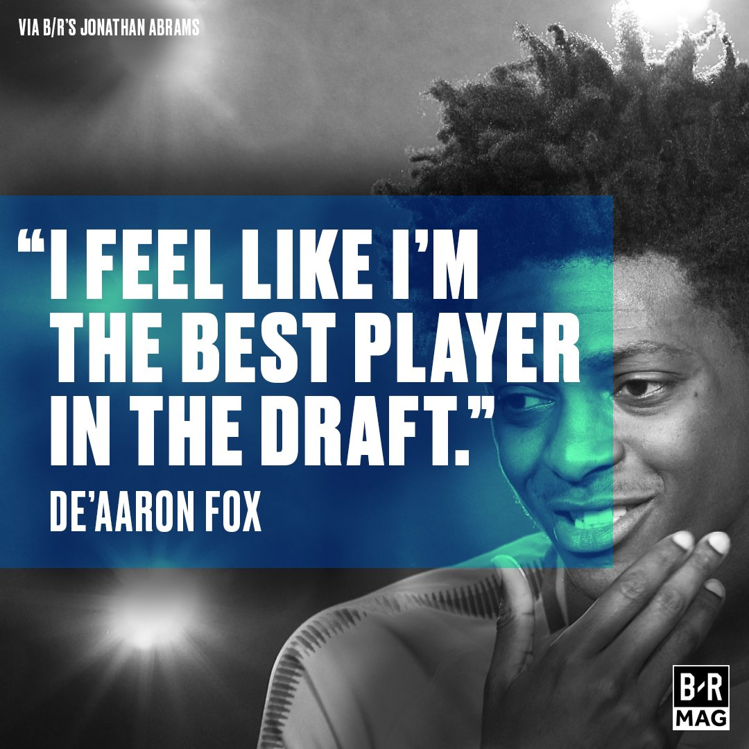 Draft projections don't matter to De'Aaron Fox #BRmag ➡️ https://t.co/...
