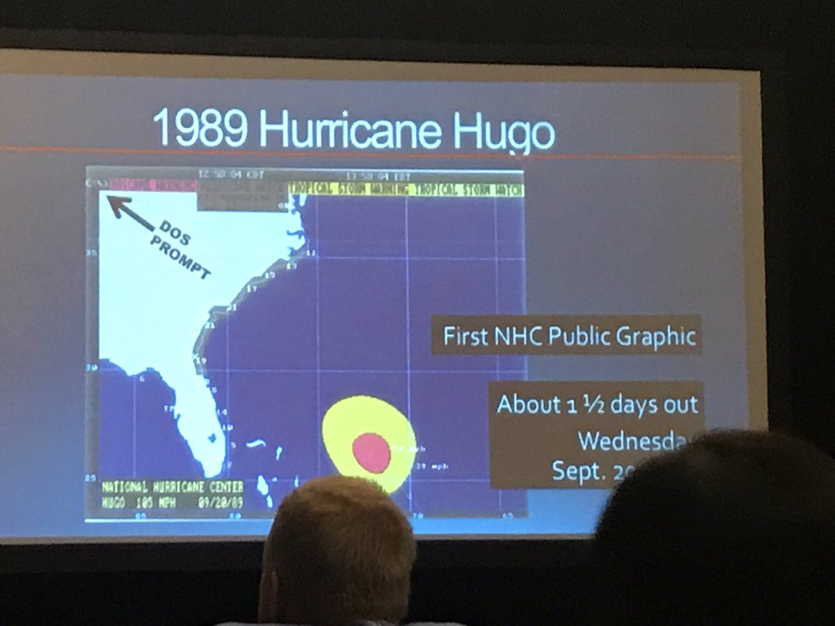 The birth of the cone. @NHC_Atlantic has come so far, so fast. 1st cone on tv was barely 15 yrs ago. Communication is hard to do. #NBC4DC <br>http://pic.twitter.com/xC8DViAEN0