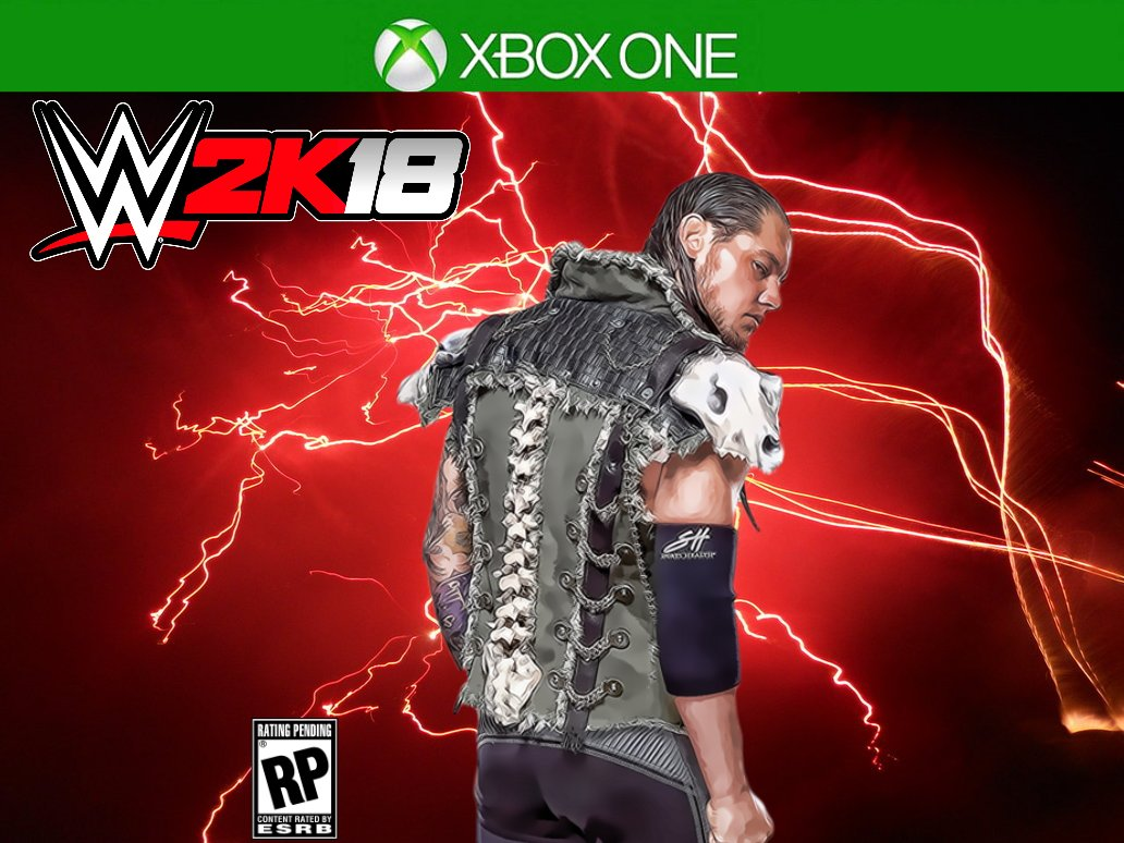 How the cover of #WWE2k18 should have looked #LoneWolfEdition @BaronCo...