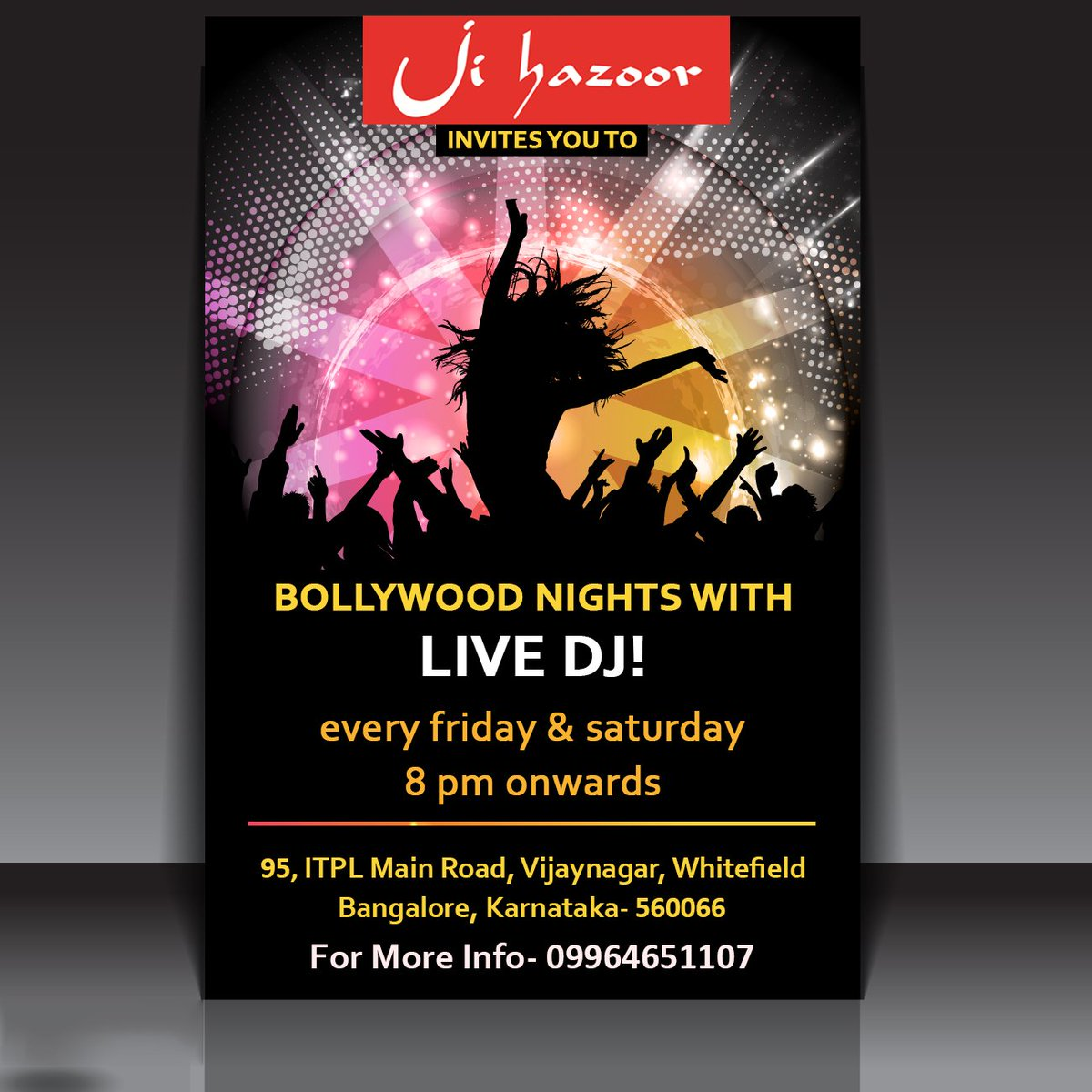 Are You Ready For The Party? It&#39;s Here @ Ji Hazoor! Call 09964651107 Now For Bookings &amp; Queries! #JiHazoor #Dining #Restaurant #Bengaluru<br>http://pic.twitter.com/gEa2wtXN52