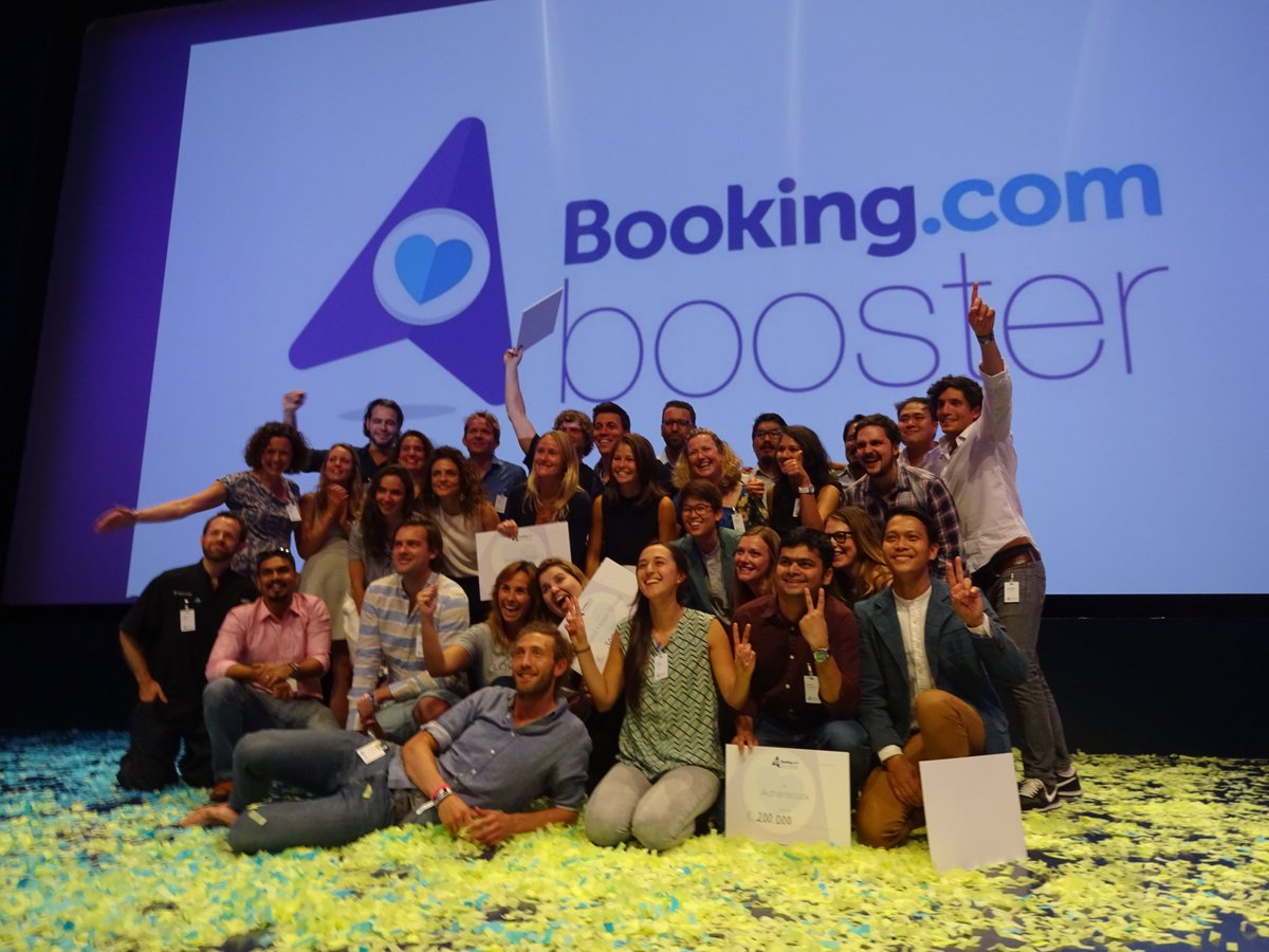 #BookingBooster&#39;s €2m go to @authenticook, @Awake_travel, @The_Backstreets, @desolenator, @GoodHotelLondon, @localalike &amp; @Seabin_project!<br>http://pic.twitter.com/QFY4r8IbbV