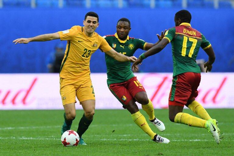 #Apertura2017 | ¡EN JUEGO! El segundo tiempo. Camerún 1-0 Australia. h...