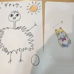逢田梨香子さん画の「ダチョウ」と「セーラームーン」!好きなものは上手に描けるとのことですが、本当に同…