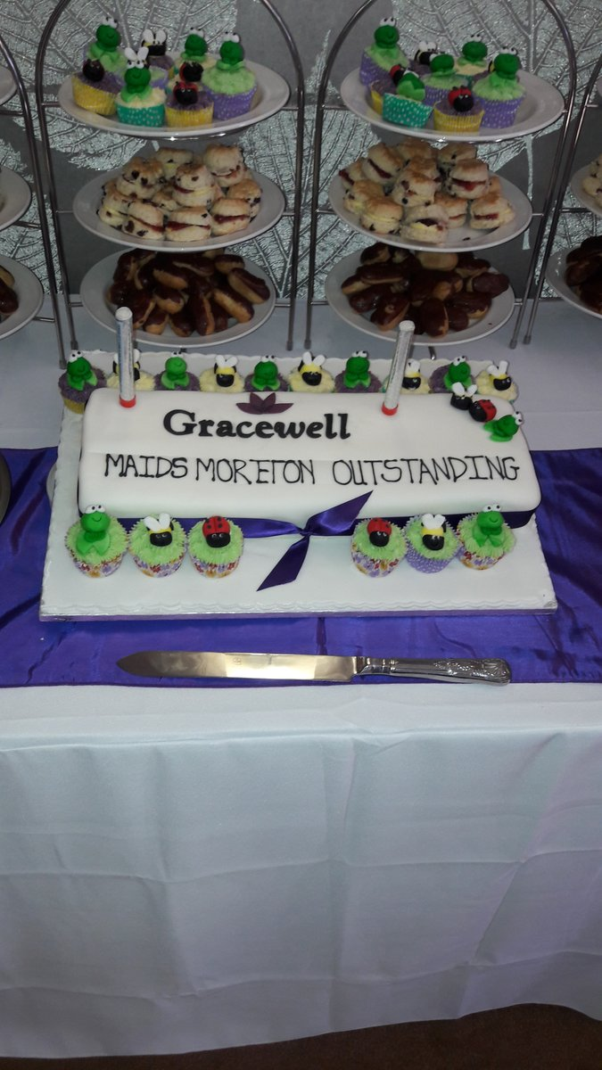 #GracewellofMaidsMoreton officially celebrated its #Outstanding @CareQualityComm rating yesterday! Check out the amazing celebratory cake.<br>http://pic.twitter.com/LuTExy0MMn