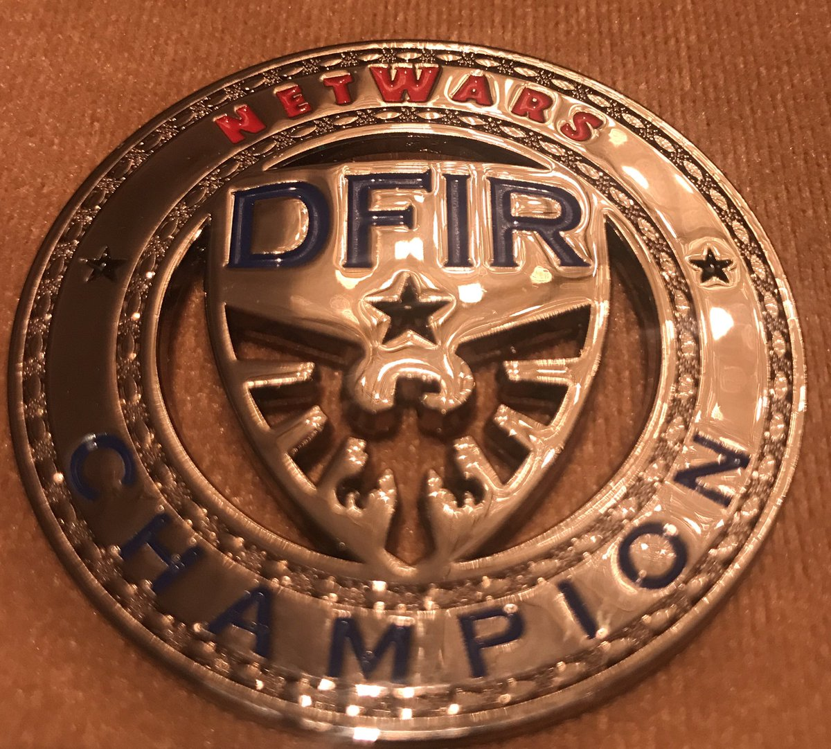 Brand New #DFIR #NetWars Champion Challenge Coins being released at #DFIRSummit - sign up for Netwars on June 27/28 https://t.co/RFXOdQGlXK