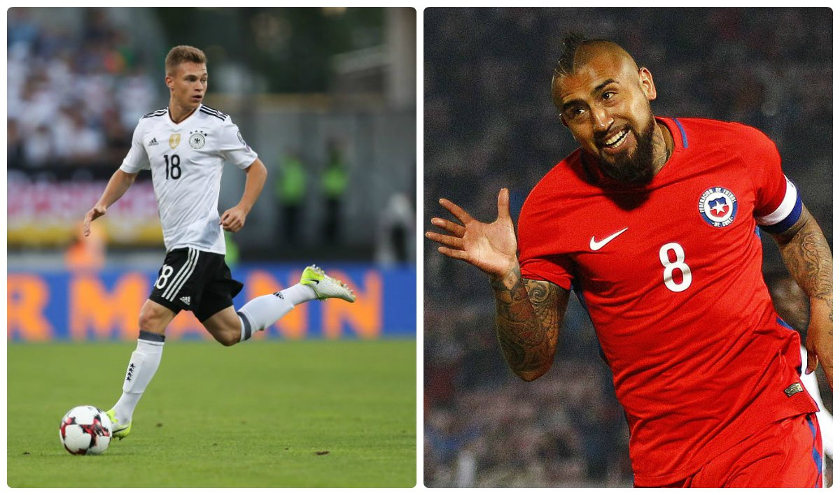 Good luck to Joshua #Kimmich and @kingarturo23, who both start in #GER...