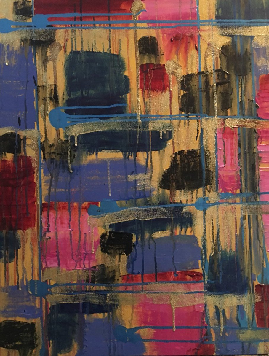Daisy - Beautiful, Abstract, Original, Canvas, Painting, Modern, Tapestry, Pink, Blue  https:// seethis.co/gzg4A/  &nbsp;   #homeimprovement #wallart<br>http://pic.twitter.com/A7T7aJhC65