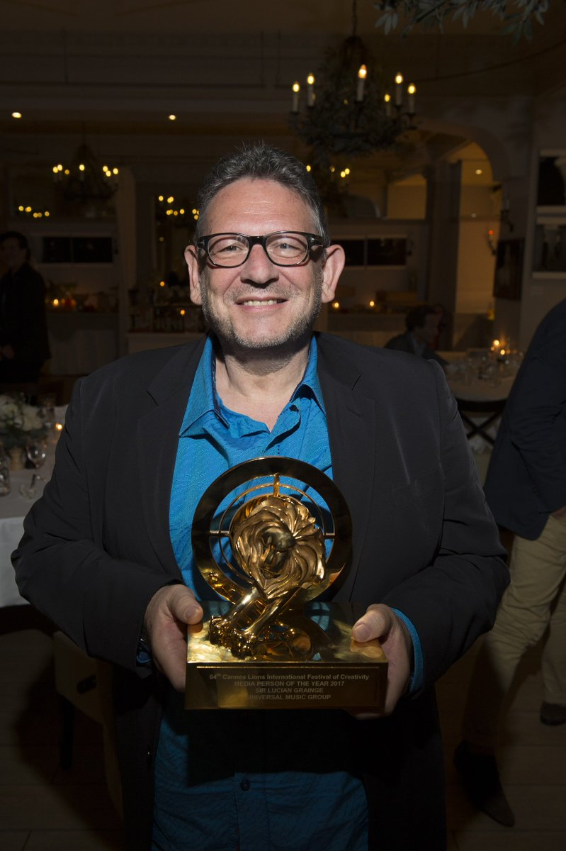 Congrats to Sir Lucian Grainge who was awarded the @cannes_lions 'Medi...