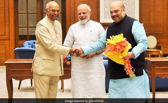 #PresidentialPoll | PM Modi meets Amit Shah, senior ministers to review preps for presidential nomination tomorrow https://t.co/vQKp1Rgi3t