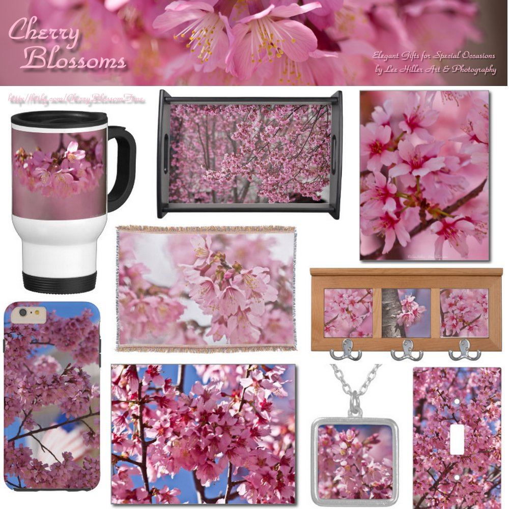 Pink #Sakura #CherryBlossoms #Photography #Art #Gifts #HomeDecor #Fashion #Barware