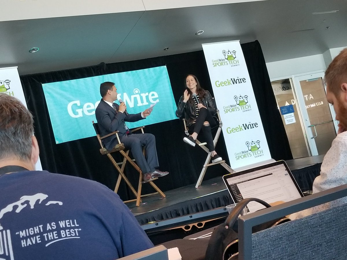 .@S10Bird in the house at #GWSportsTech with @AaronQ13Fox https://t.co...