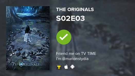I've just watched episode S02E03 of The Originals! https://t.co/2UTPrz...