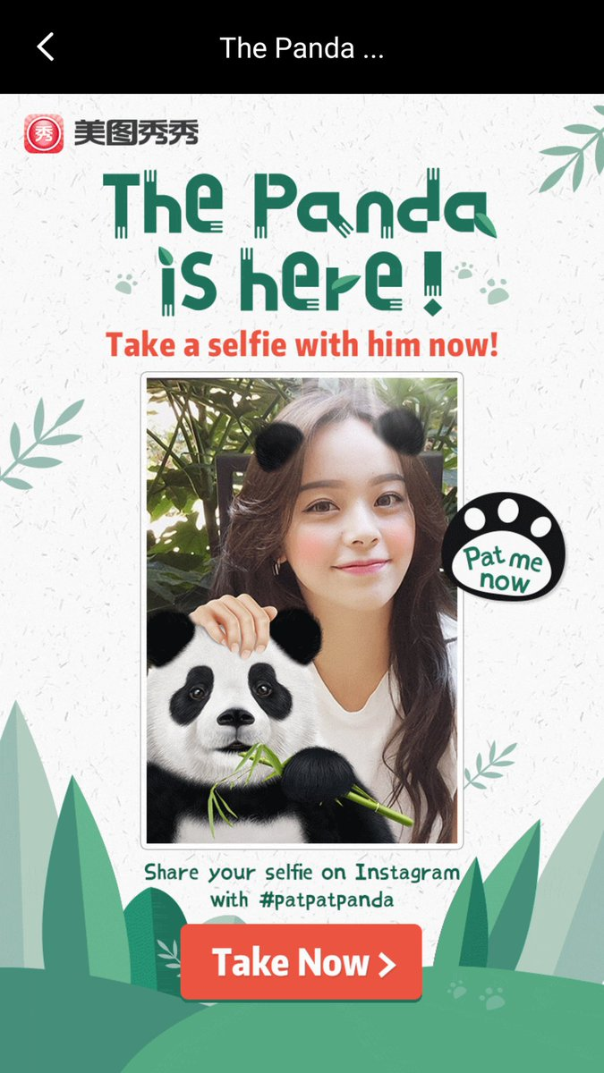 You&#39;ve been waiting for this all along...Meitu has finally added a selfie-with-panda feature. #meitu #app #panda #bearnecessity<br>http://pic.twitter.com/X0C13f1AKG