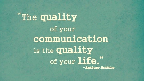 &quot;The #quality of your #communication is the quality of your #life&quot; #leadership #startup #entrepreneur #EmotionalIntelligence<br>http://pic.twitter.com/OW7sB3el9O
