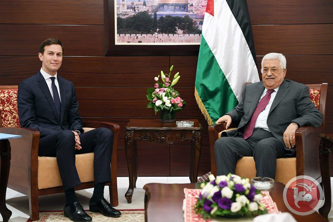 Abbas meets with Kushner, US envoy to discuss reviving peace process https://t.co/JNuFoSOmeS