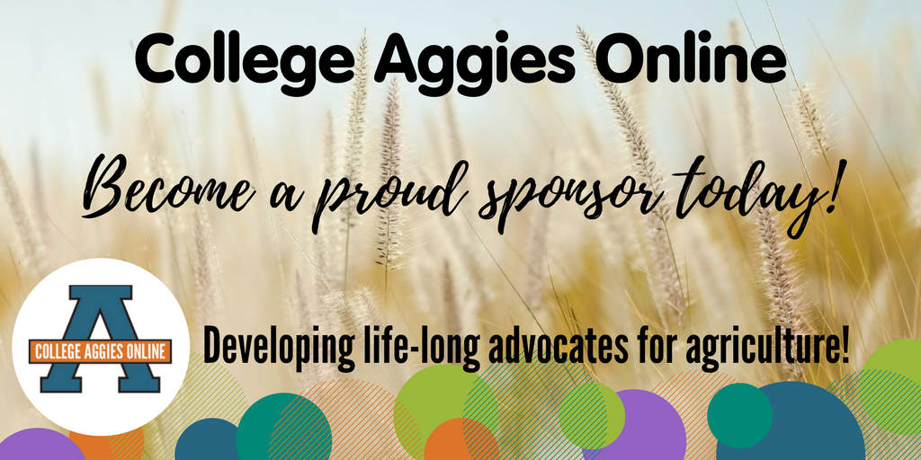 Want to help develop life-long advocates for ag? Sponsor our 2017 @AggiesOnline program this fall!  http:// bit.ly/2sYQRP0  &nbsp;   #CAO17 <br>http://pic.twitter.com/uHWaTIcoYF