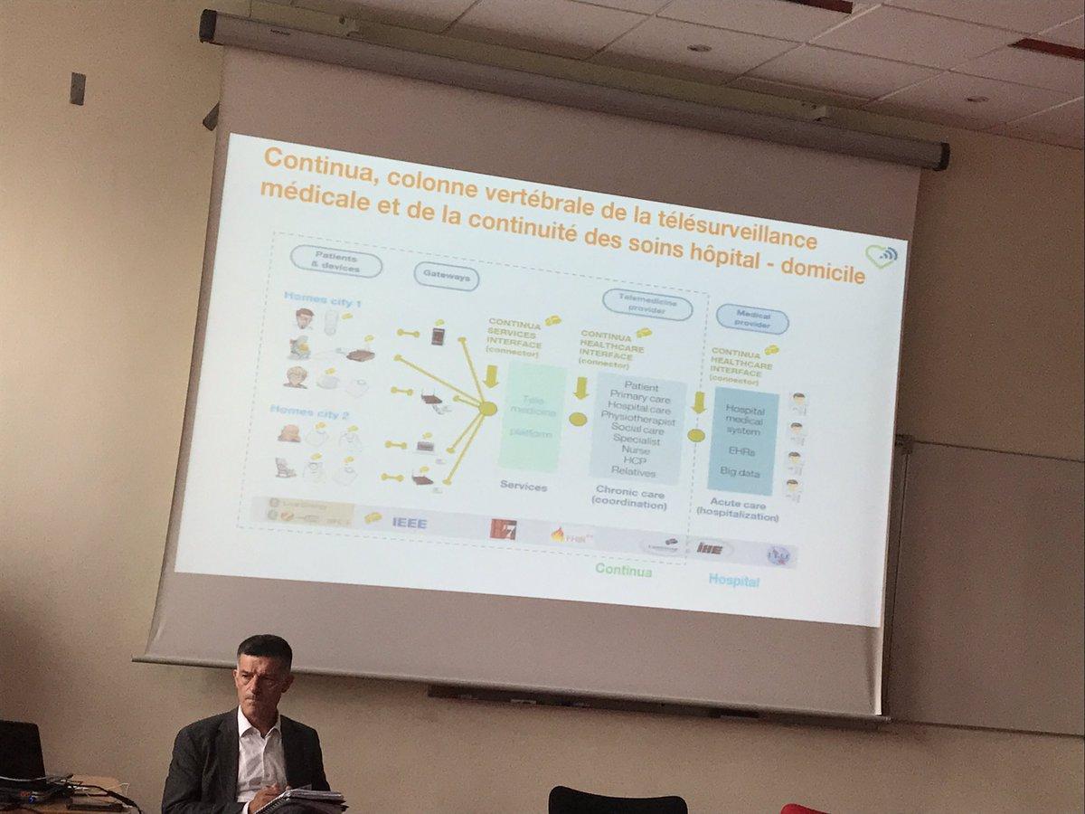 #tptalks @LaurentBouskela : le standard Personnal Connected Health Alliance (ex Continua) se developppe en Europe #Interoperabilite #esante <br>http://pic.twitter.com/BkHCxnoXK6